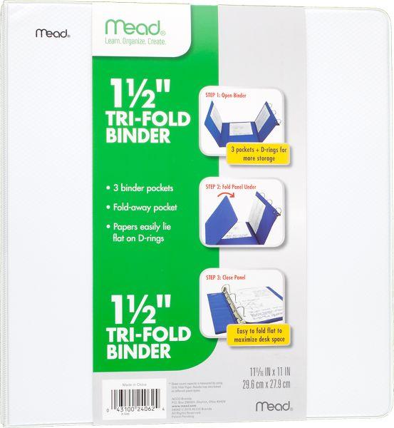Mead Tri-Fold 1.5 Inch Binder - Binders
