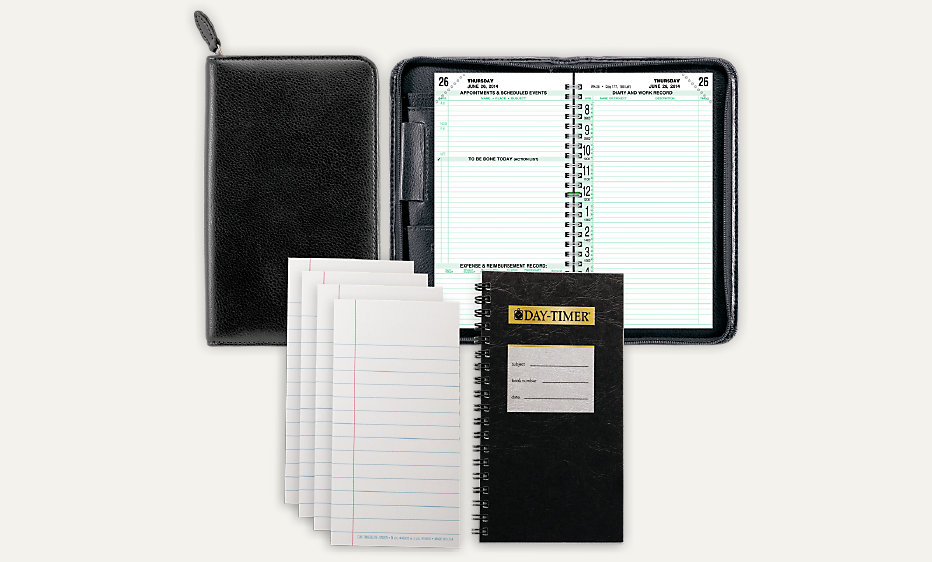 2 page per day original armorhide leather planner set pocket size