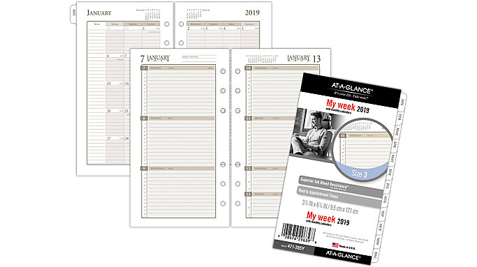 AT-A-GLANCE Day Runner Weekly Planner Refill Size 3  (471-285Y)