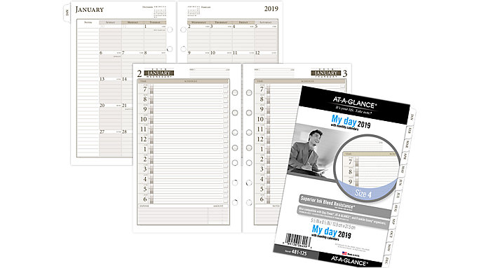 AT-A-GLANCE Day Runner 1-Page-Per-Day Planner Refill Size 4  (481-125)