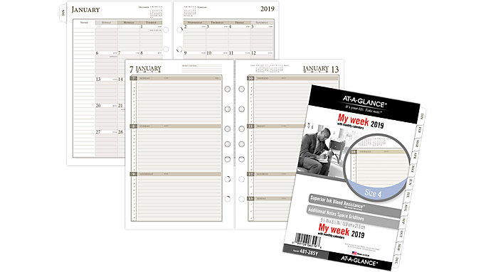 AT-A-GLANCE Day Runner Weekly Planner Refill Size 4  (481-285Y)