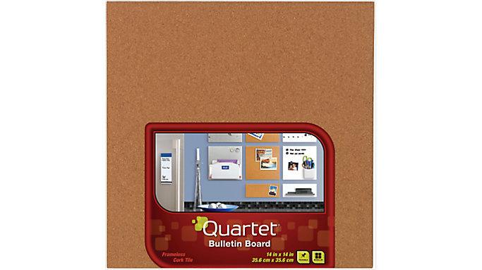 Quartet Frameless Cork Bulletin Board Tile  (48112Q)