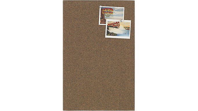 Quartet Frameless Cork Bulletin Board Tile  (48115)