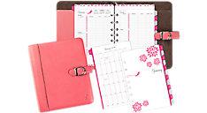 2-Page-Per-Week Pink Ribbon Planner Set Desk Size (Item # 48412)