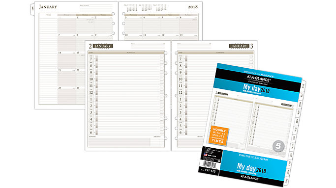 AT-A-GLANCE Day Runner 1-Page-Per-Day Planner Refill Size 5  (491-125)