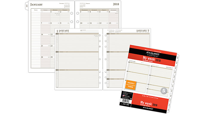 AT-A-GLANCE Day Runner Weekly Calendar Planner Refill Size 5  (491-285)