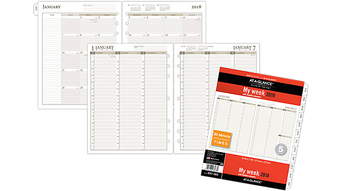 AT-A-GLANCE Day Runner Vertical Weekly Planner Refill Size 5  (491-485)