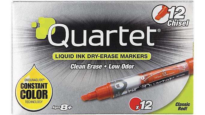 Quartet EnduraGlide Dry Erase Markers Chisel Tip  (5001-4MA)