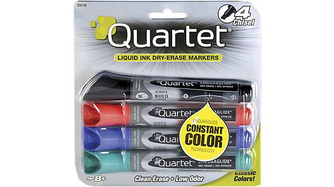 Quartet EnduraGlide Dry Erase Markers Chisel Tip  (5001MA)
