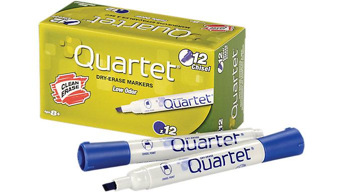 Quartet Low Odor Dry Erase Marker with DryGuard Ink Chisel Tip  (51-002712QA)