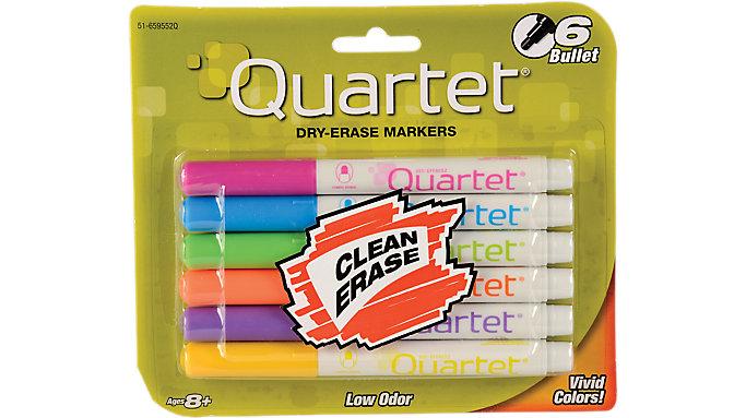 Quartet Low Odor Dry Erase Markers Bullet Tip  (51-659552QA)