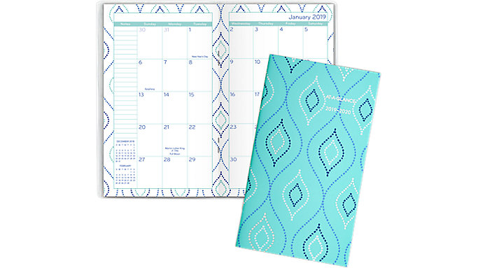serene diamonds 2 year monthly pocket planner 5138 021 at a glance