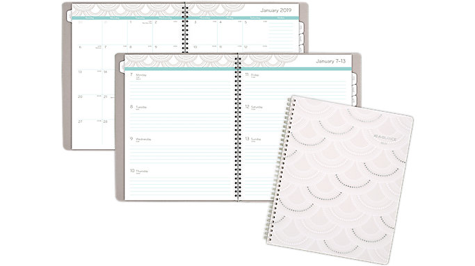 AT-A-GLANCE Serene Scallops Weekly-Monthly Planner  (5138-905)
