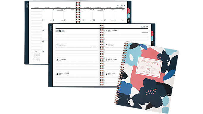 AT-A-GLANCE BADGE Collection AcademicWeekly-Monthly Medium Planner  (5203F-805A)