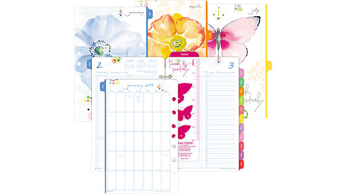 Day-Timer Kathy Davis 1-Page-Per-Day Planner Refill Desk Size  (52111)