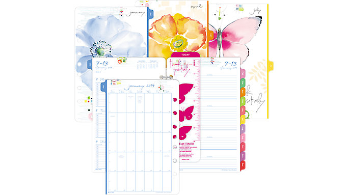 Day-Timer Kathy Davis 2-Page-Per-Week Planner Refill Desk Size  (52122)