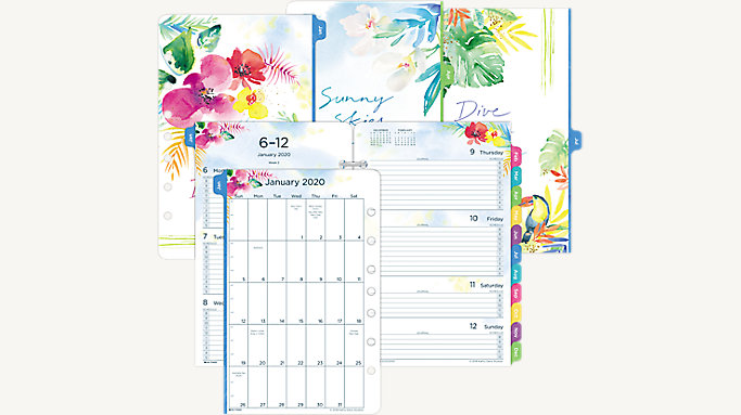 photo about Planner Refills called Working day-Timer Kathy Davis 2-Web page-For each-7 days Planner Refill Table Sizing