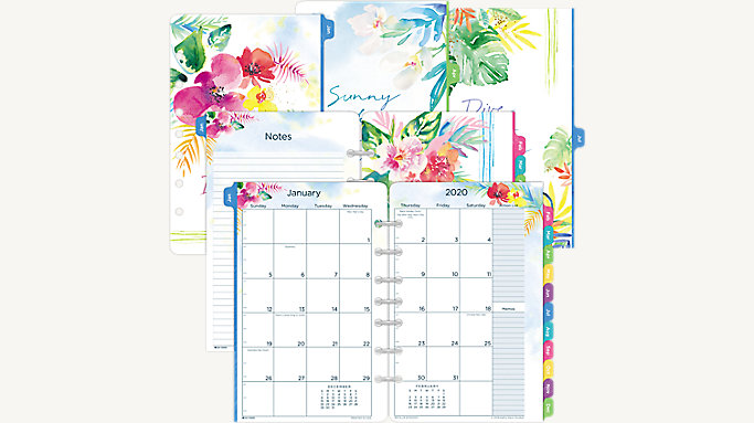 graphic relating to Cute Planner Refills named Working day-Timer Kathy Davis 2-Web site-For each-Thirty day period Planner Refill Table Dimension