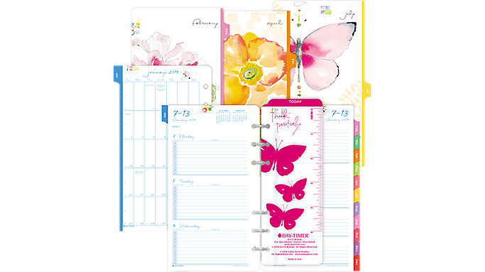 Day-Timer Kathy Davis 2-Page-Per-Week Planner Refill Portable Size  (53122)