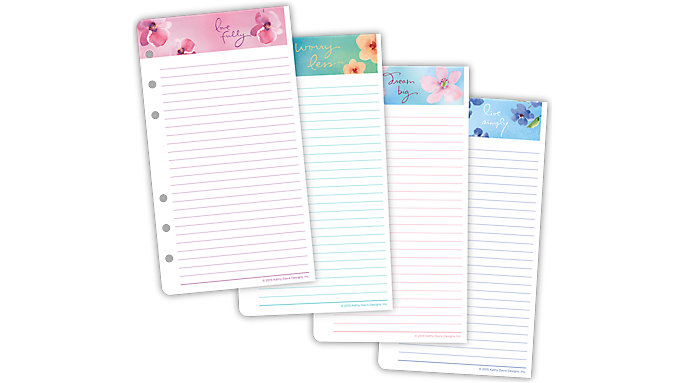 Day-Timer Kathy Davis Notepad Refill Portable Size  (53400C)