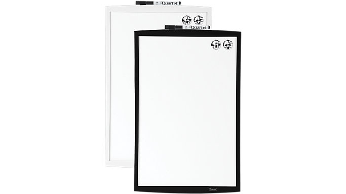 Quartet Magnetic Dry Erase Board with Curved Frame  (53805)