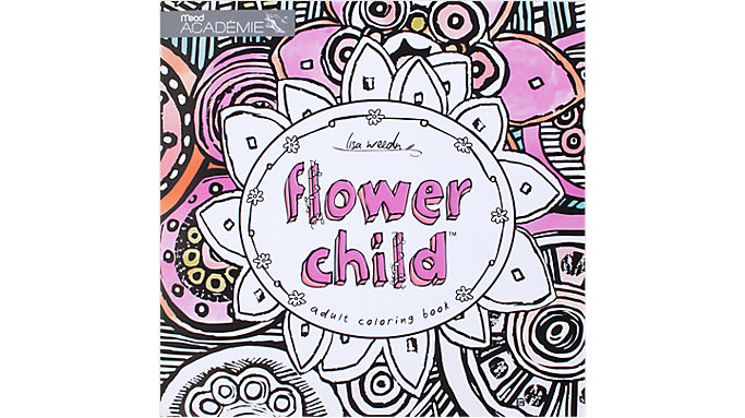 Mead Academie Flower Child Adult Coloring Book  (54008)