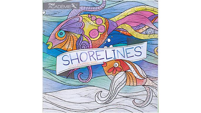 Mead Academie Shorelines Adult Coloring Book  (54018)