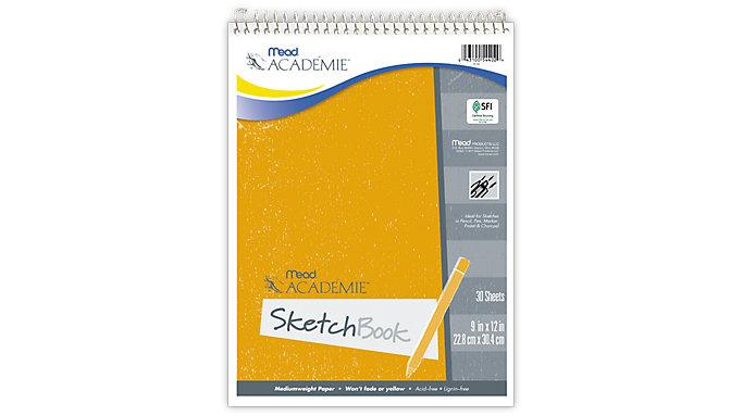 Mead Academie Wirebound Sketch Book  (54402)