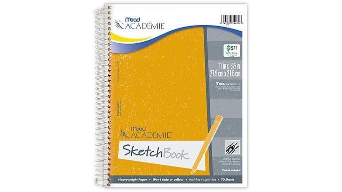 Mead Academie Wirebound Sketch Book  (54404)
