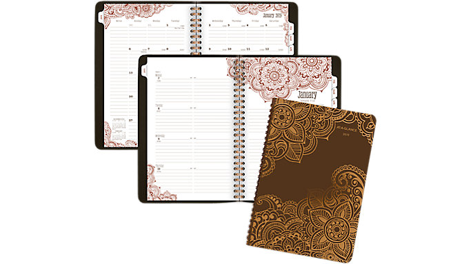 AT-A-GLANCE Henna Premium Weekly-Monthly Planner  (551-200)
