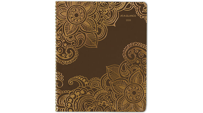AT-A-GLANCE Henna Premium Weekly-Monthly Appointment Book  (551-905)
