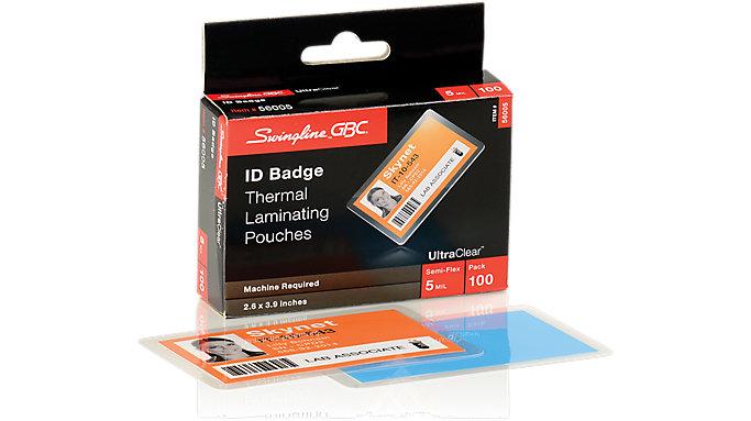 GBC HeatSeal Pouches Badge-ID Size 5 Mil 100 pcs  (56005B)