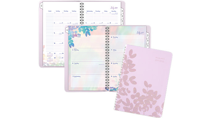 AT-A-GLANCE Aura Blooms Academic Weekly-Monthly Planner  (585-200A)