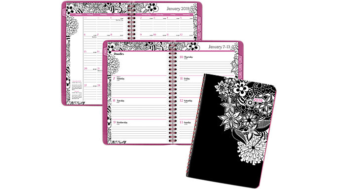 Cambridge FloraDoodle Premium Weekly-Monthly Planner  (589-200)