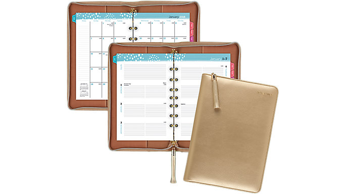 AT-A-GLANCE Pebble Weekly-Monthly Ringed Planner  (6079-4001)