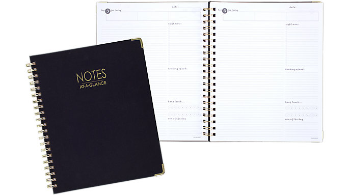 80 Pages Notebook Medium Numbered Stationary Ruled Home Office Coil School Note