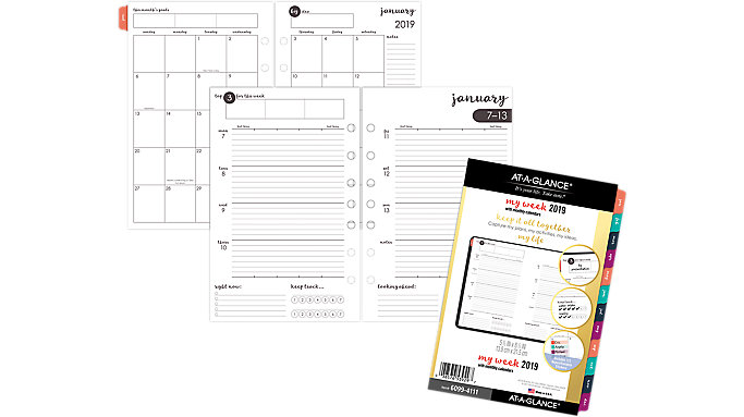 AT-A-GLANCE Harmony Weekly-Monthly Planner Refill  (6099-4111)