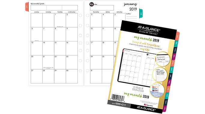 AT-A-GLANCE Harmony Monthly Planner Refill  (6099-4211)