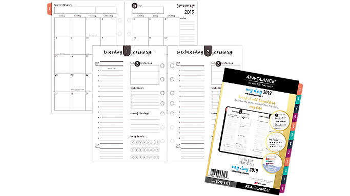 AT-A-GLANCE Harmony Daily-Monthly Planner Refill  (6099-4311)