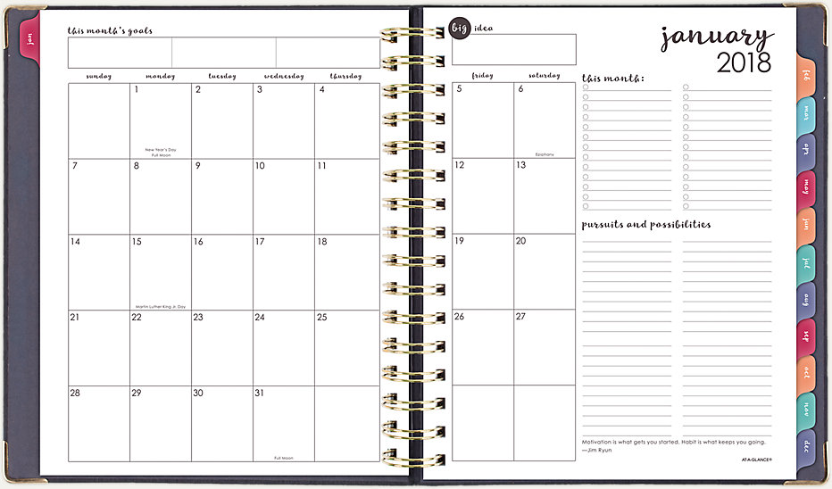 harmony hardcover weekly monthly planner 6099 805 at a glance