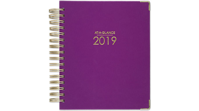 AT-A-GLANCE Harmony Hardcover Daily-Monthly Planner  (6099-806)