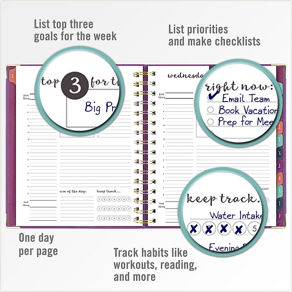 photo relating to Hardcover Daily Planner called AT-A-Appear Equilibrium Hardcover Each day-Regular monthly Planner