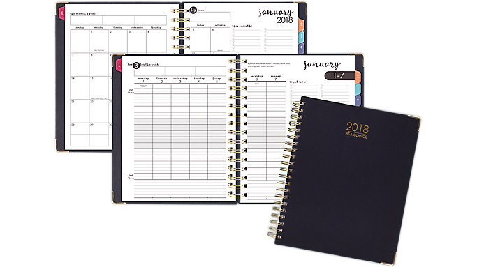 harmony hardcover weekly monthly planner 6099 905 at a glance