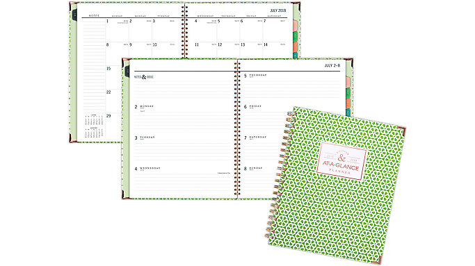 AT-A-GLANCE Badge Academic Weekly-Monthly Planner  (6124G-905A)