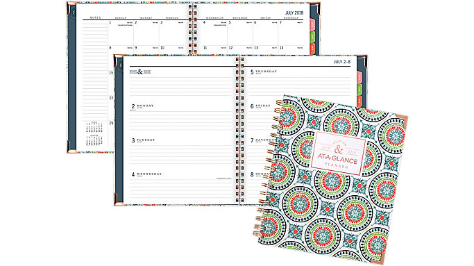 AT-A-GLANCE Badge Academic Weekly-Monthly Planner  (6124T-805A)