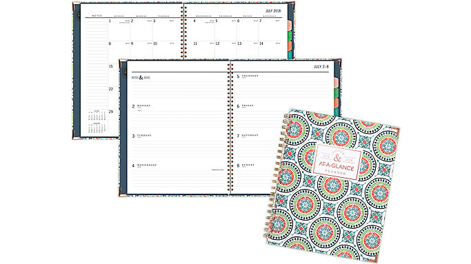 AT-A-GLANCE Badge Academic Weekly-Monthly Planner  (6124T-905A)