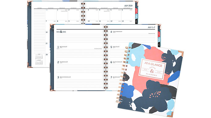 AT-A-GLANCE BADGE Collection Academic Weekly-Monthly Hardcover Medium Planner  (6203F-805A)
