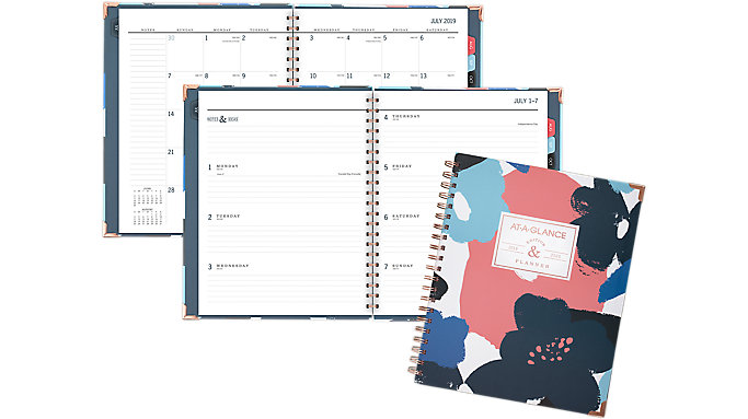 AT-A-GLANCE BADGE Collection Academic Weekly-Monthly Hardcover Large Planner  (6203F-905A)