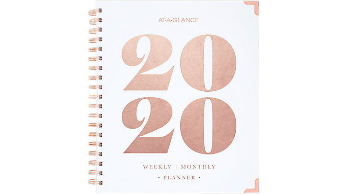 AT-A-GLANCE BADGE Bold Year Weekly-Monthly Hardcover Planner  (6282-904)