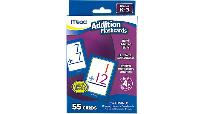 Mead Addition Flashcards Grades K-3  (63034)